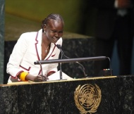 Alek Wek at the United Nations